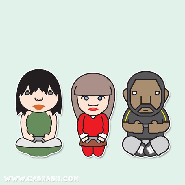 Ayana, Catherine & Benyamin